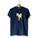 Fishboy Men's Goat Tee in Indigo Blue.