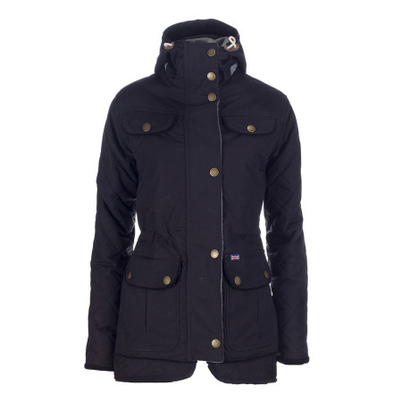 Peregrine Hooded Londoner Jacket Black