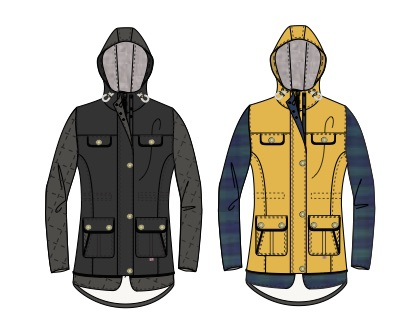 Peregrine Hooded Londoner Jacket Sketch