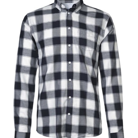 Libertine-Libertine Hunter Vapor Shirt Navy Off White Check