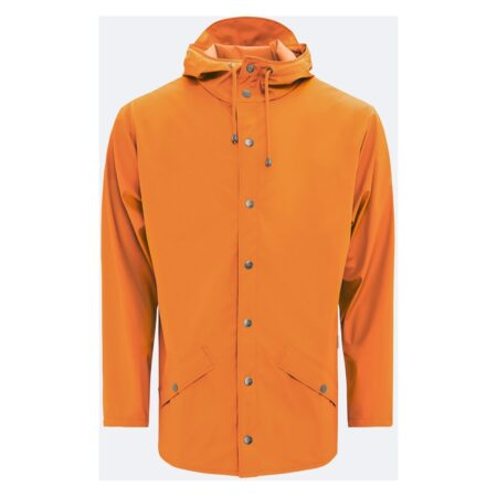 Rains Waterproof Jacket in Fire Orange