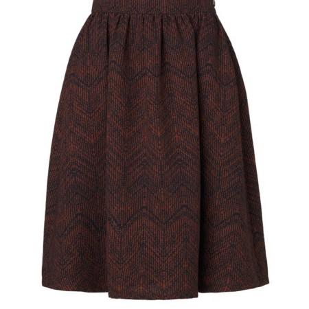 Libertine-Libertine Late Abroad Skirt in Rusty