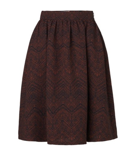 Libertine-Libertine Late Abroad Skirt in Rusty