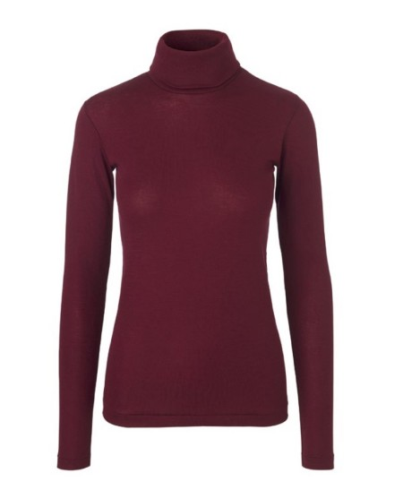 Libertine-Libertine Tail Dash Roll Neck in Burgundy