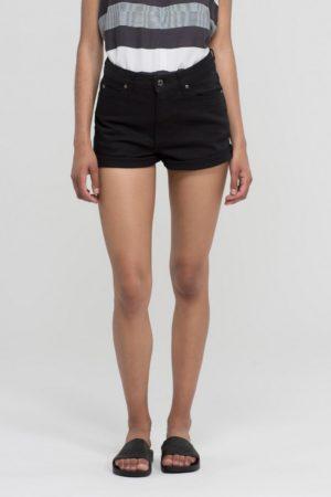 Dr Denim Jenn Shorts in Black