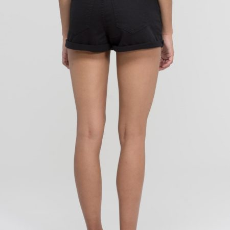 Dr Denim Jenn Shorts in Black