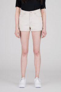 Dr Denim Jenn Shorts in Buff Beige