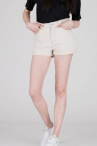 Dr Denim Jenn Shorts in Buff Beige