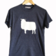 FishboyPZ Men's Sheep Tee in Navy Heather.