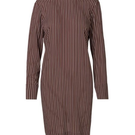 Libertine-Libertine Soft Enough Dress in Wine Stripe