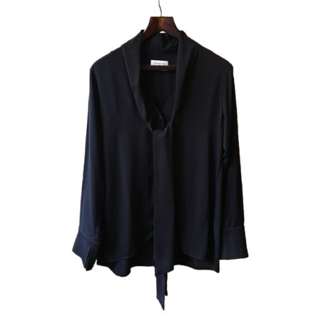 Libertine-Libertine Surreal Hammer Blouse in Dark Navy