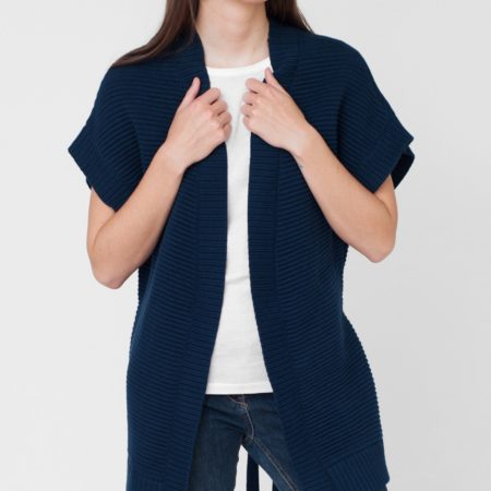 Beaumont Organic Dora Knitted Cardigan in Navy