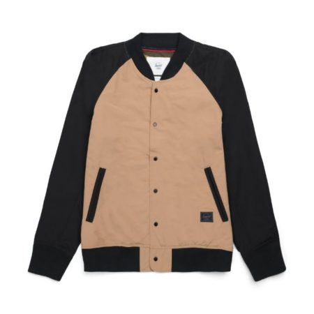 Herschel Supply Co. Varsity Jacket in Khaki/Black/Dark Olive
