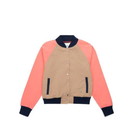 Herschel Supply Co. Varsity Jacket in Khaki/Georgia Peach