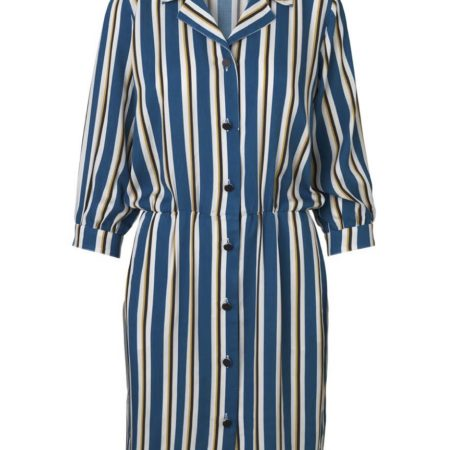 Libertine-Libertine Capture Forward Dress in Royal Stripe
