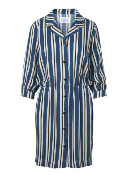 Libertine-Libertine Capture Forward Dress in Royal Stripe