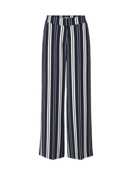 Libertine-Libertine Lark Between Trouser in Navy Stripe