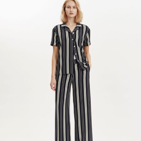 Libertine-Libertine Lark Between Trouser in Navy Stripe
