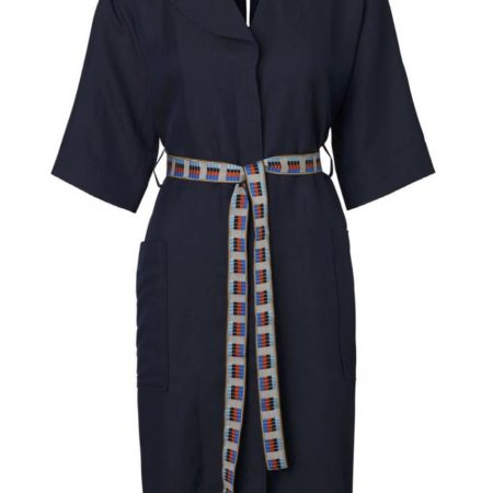 Libertine-Libertine Torino Going Shirt Dress in Dark Navy