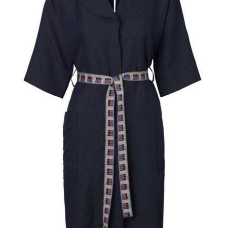 Libertine-Libertine Torino Going Shirt Dress in Dark Navy