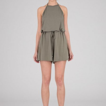 Dr Denim Zinaida Playsuit in Graceless Green