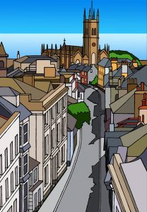 Historic Chapel Street A3 Print by Mat McIvor.