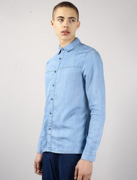 Native Youth Adriatic Shirt in Denim Blue