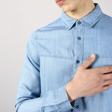 Native Youth Adriatic Shirt in Denim Blue