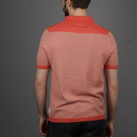 Peregrine Burton Polo Shirt in Mandarin Orange