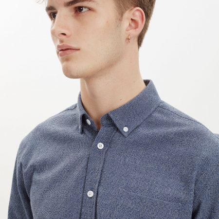Libertine-Libertine Hunter Dorian Shirt in Blue Nep
