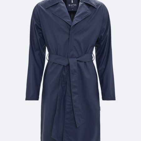 RAINS Waterproof Overcoat in Blue