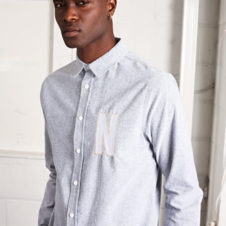 Native Youth Hone Shirt in Melange Blue