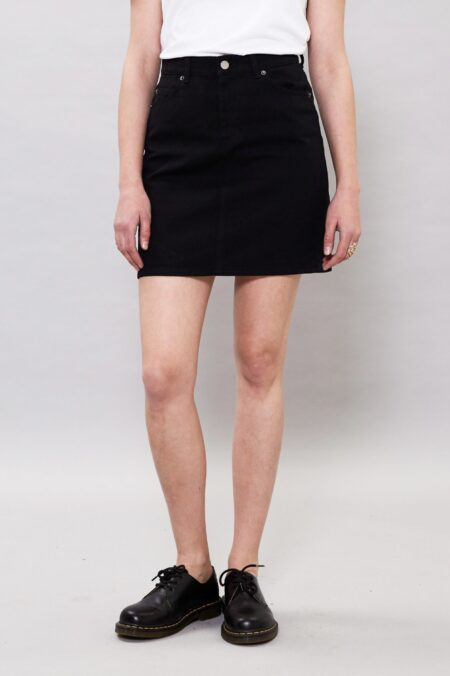 Dr Denim Bix Denim Skirt in Black