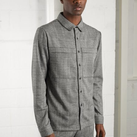 Native Youth Cadley Shirt in Black Check