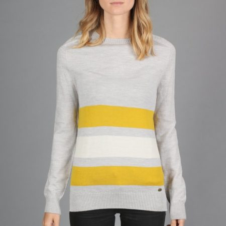 Peregrine Colour Stripe Jumper in Light Grey