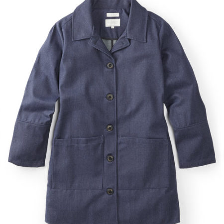 Peregrine Edith Waxed Denim Jacket in Navy