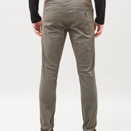 Dr Denim Heywood Chino in Worn Camo Green