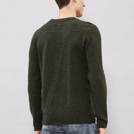 Dr Denim Noah Sweater in Camo Green Neps