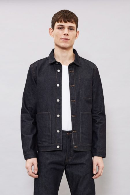 Dr Denim Pason Jacket in Raw Selvage