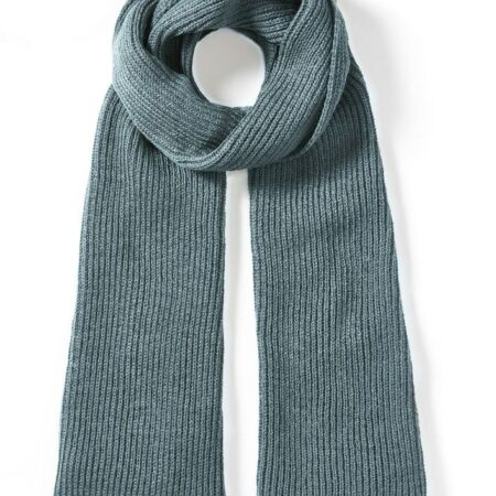 Peregrine Porter Ribbed Scarf in Seafoam