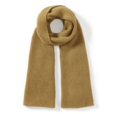 Peregrine Porter Ribbed Scarf in Mustard
