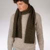 Peregrine Porter Ribbed Scarf in Olive Green