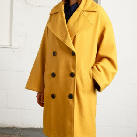 Native Youth Oversized Creator Overcoat in Mustard