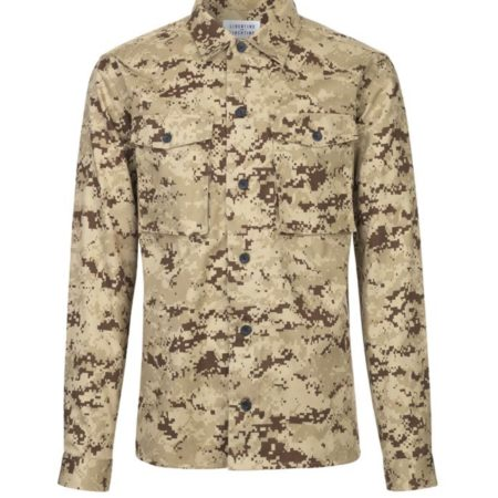 Libertine-Libertine Devotion Hagen Shirt in Brown Camo