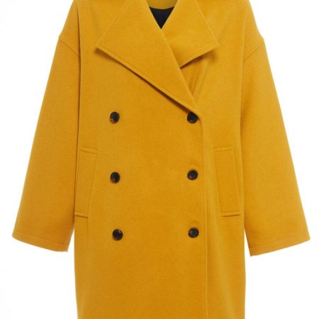 Native Youth Oversized Creator Overcoat in Mustard