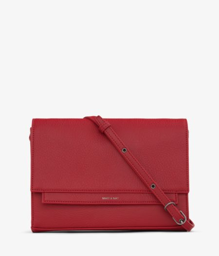 Matt & Nat Silvi Dwell Crossbody Bag in Red