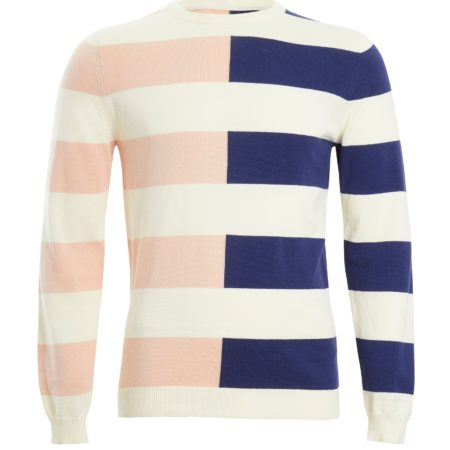 Native Youth Andrew Knit in Contrast Stripe
