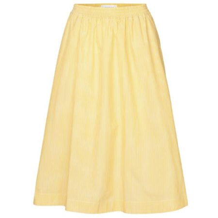 Libertine-Libertine Global Free Skirt in Yellow Stripe