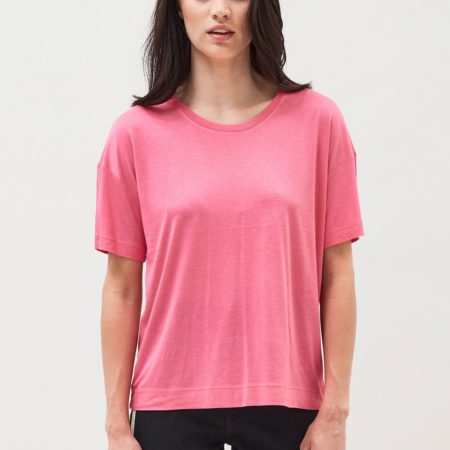 Dr Denim Jackie Tee in Power Pink
