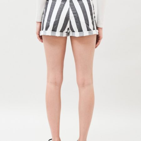 Dr Denim Jenn Shorts in Spring Stripe